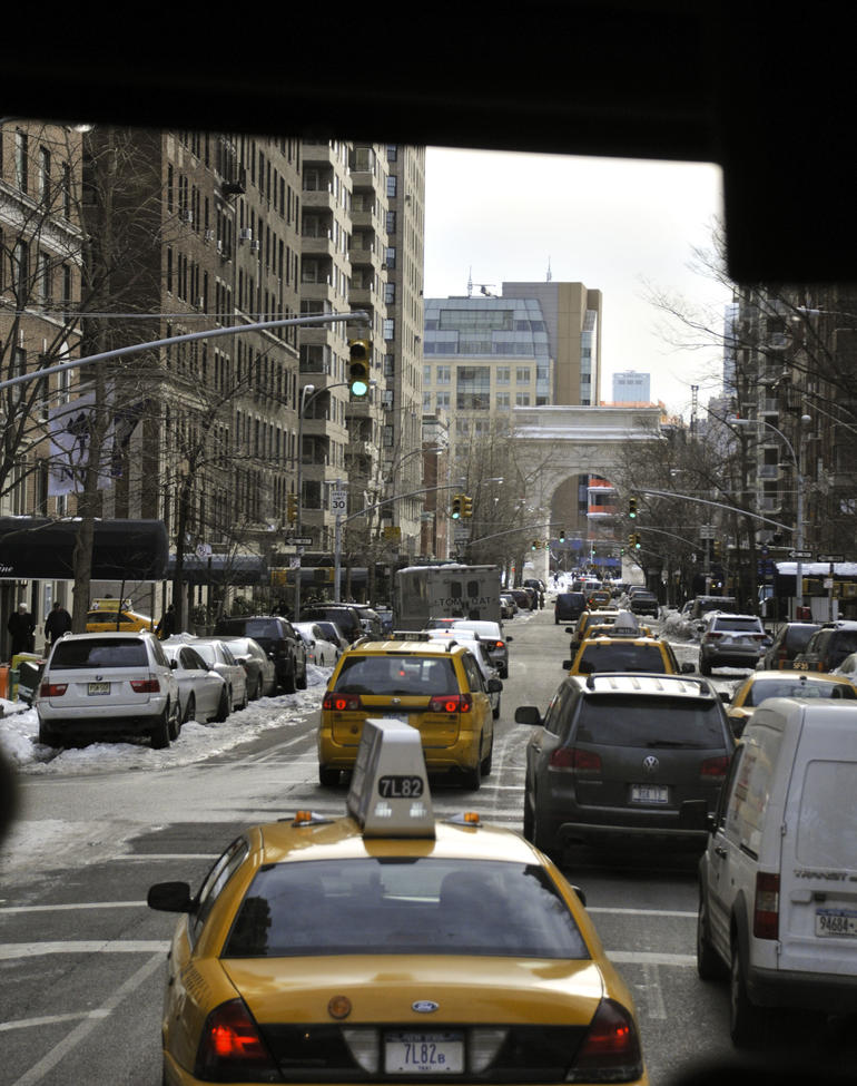 Tour Bus on its way to NYU - New York City