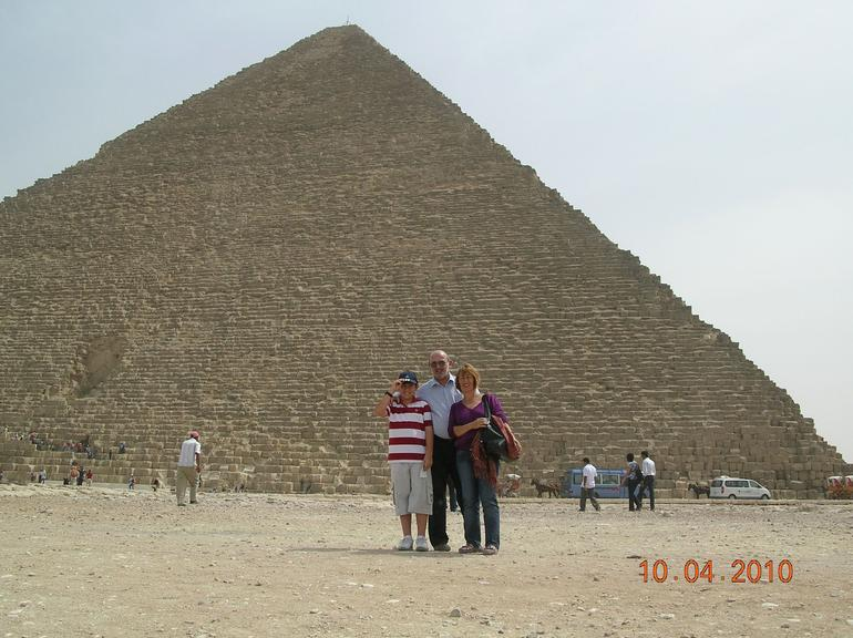We in front of the pyramids - Cairo