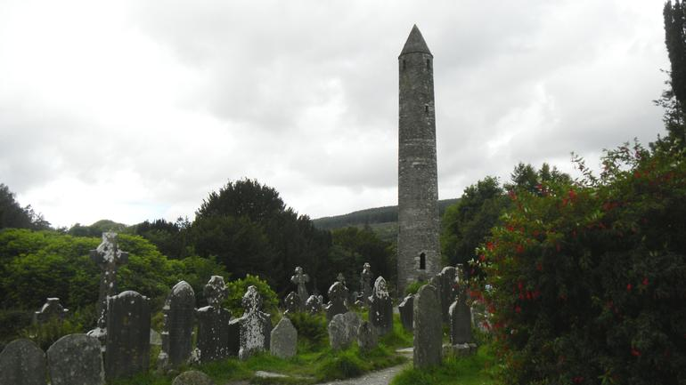 5j8-Glendough monestary ruins3-round tower6 - Dublin