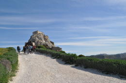 Photo of   Climbing up towards the castle ruins at Les Baux de Provence