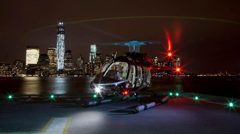 Helicopter at Jersey City Heliport - New York City