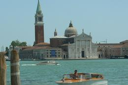 The Island of San Giorgio, known as the island of cypresses, is home to a Benedictine Monastery., Eleanor L - June 2008