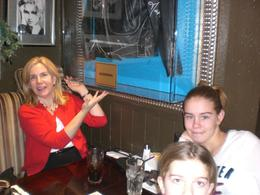 We were thrilled to be seated at a table which had Madonna's jacket in a case posted by it. - January 2010