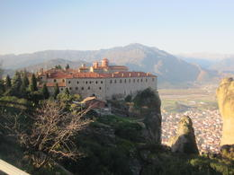 Monastery at Meteora with Kalambaka town below. , Peng Seong K - December 2010