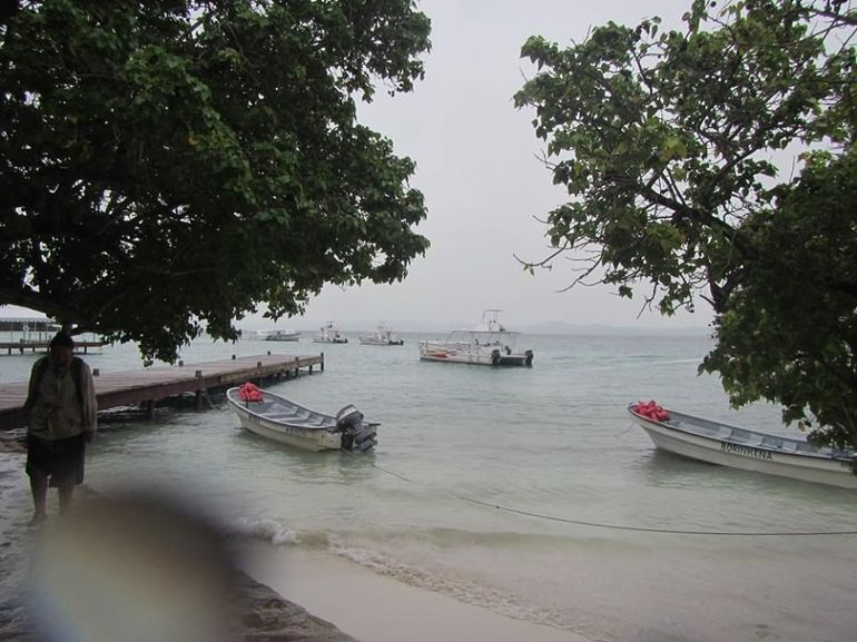 view from dock from Bacardi island