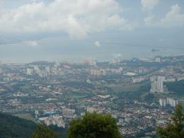 View of Penang from the hill... the bridge connecting the mainland is in the distance, Krishnan Vaitheeswaran - April 2009