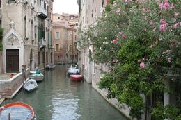 A typical quiet Venetian 'street' during the Walking Tour., Mark C - August 2010