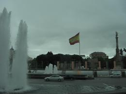 Photo of Madrid Panoramic Madrid Sightseeing Tour Spain Flag and Fountain