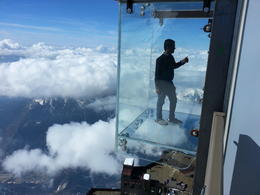 Photo of Geneva Chamonix French Alps Day Tour from Geneva by Open-Top Bus Step into the Void 12,000+ feet straight down