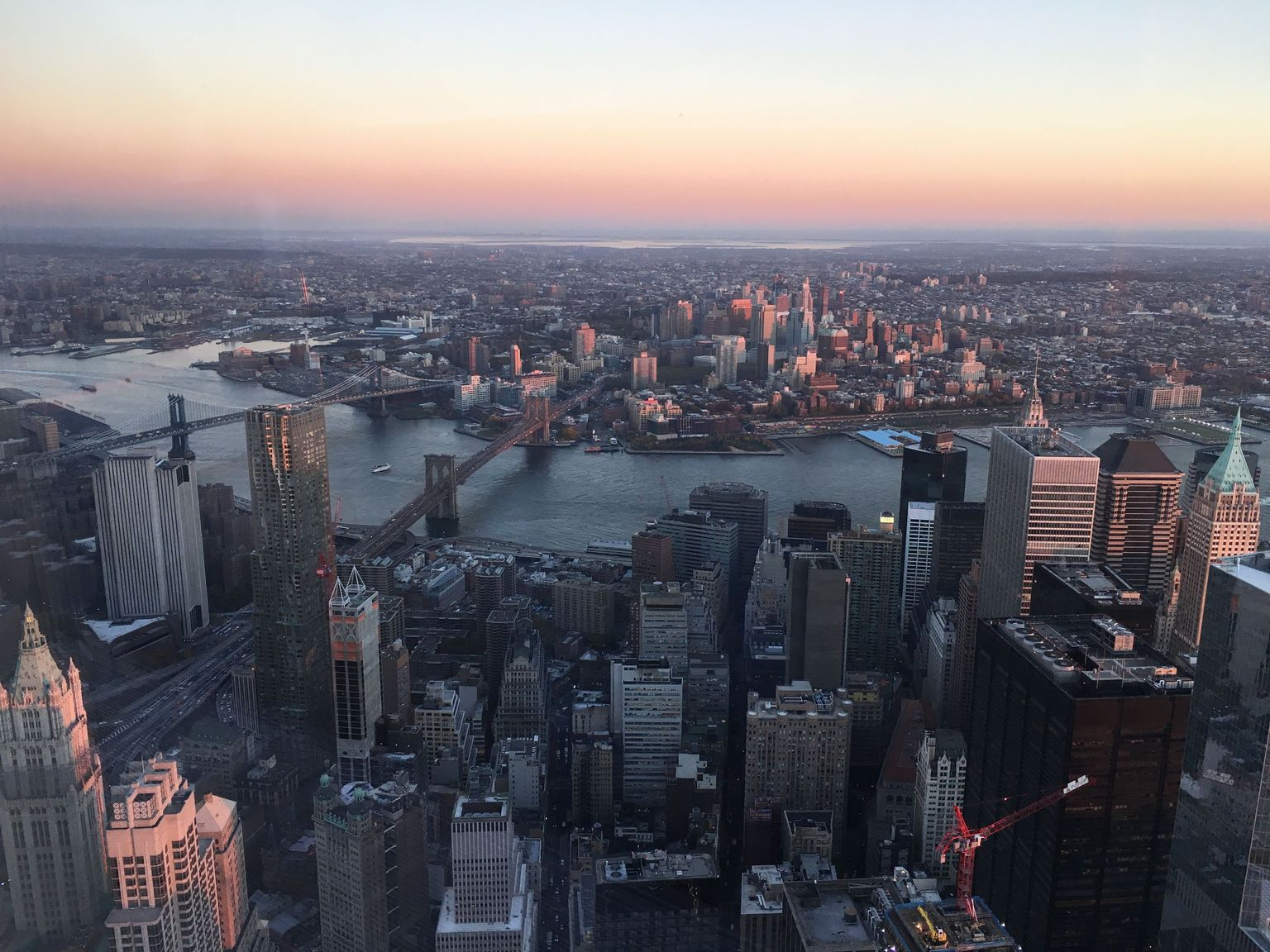 Sunset at the One World Observatory