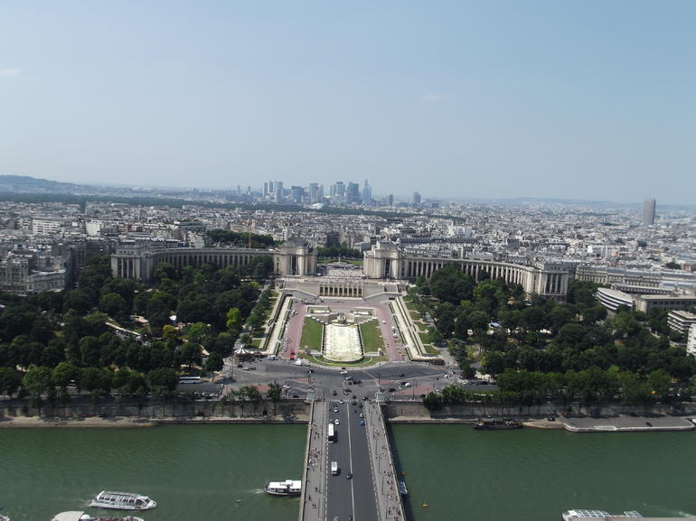 The view from the top of the tower - Paris