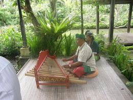 A bamboo xylophone with a wonderful sound, which our guide was playing., Sandra B - November 2010