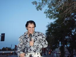 Elvis singing to us from the upper deck of a London bus on the strip in Vegas, JULIE B - May 2010