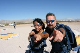 Tandem skydiving in the desert outside Vegas - March 2011