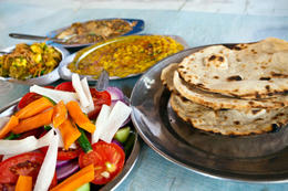 Photo of New Delhi Delhi Cultural Experience: Cook and Eat with a Local Family Indian family dinner