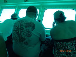 This is a view of the seating and viewing area in the semi-sub. Not to be confused with the full size sub. The semi sub is really a glass-sided boat that does not submerge. , ckfr - December 2012