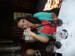 Photo of San Francisco Semi-Private Boutique Wine Country Tour with Personal Wine Blending Making her own special blend