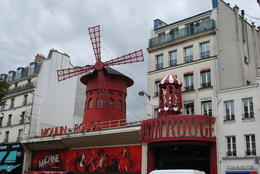Photo of Paris Montmartre and Sacre Coeur Walking Tour in Paris Moulin Rouge club in Montmartre