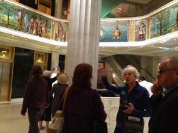Mural with tour group, Laura All Over - May 2012