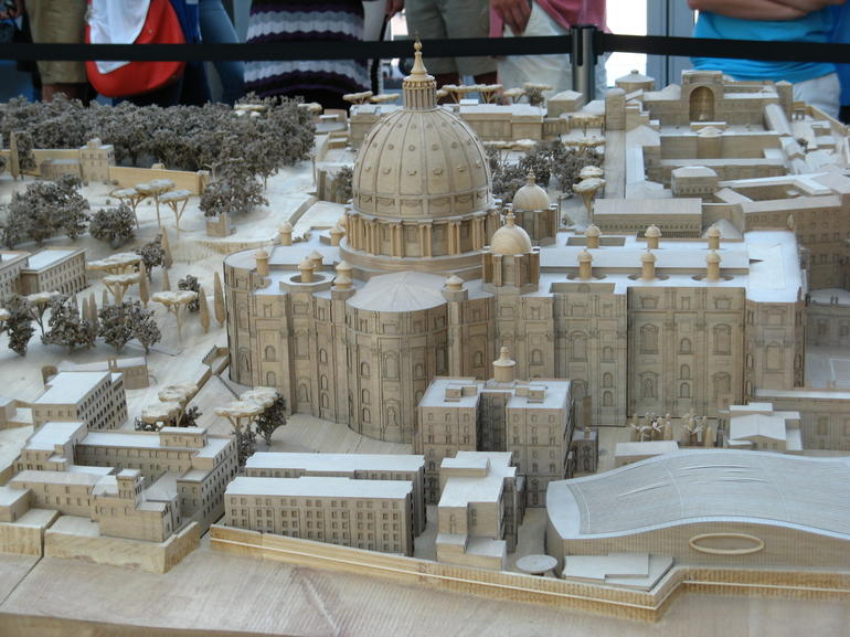 Scale model of St. Peter's Basillica - Rome