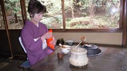 This was taken during the Tea Ceremony, this is a Tea Master during the ceremony., Martha W - March 2010