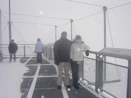 On viewing deck, Dec 2009. Could not see much, just white everywhere. But for us South Africans' so special!, Willem B - January 2010