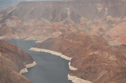 Photo of Las Vegas Grand Canyon West Rim Deluxe Sunset Helicopter Tour Flying past the Hoover Dam