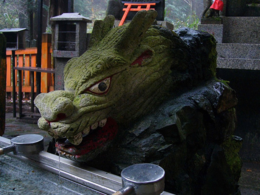 A cool mossy dragon, Fushimi Inari Shrine, kellythepea - October 2010