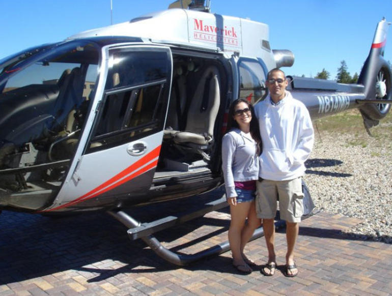 Next to our Helicopter - Las Vegas