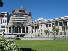 Photo of   Parliament house with the Beehive