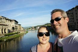 Sunset shot from Ponte Vecchio , Darryl H - June 2012