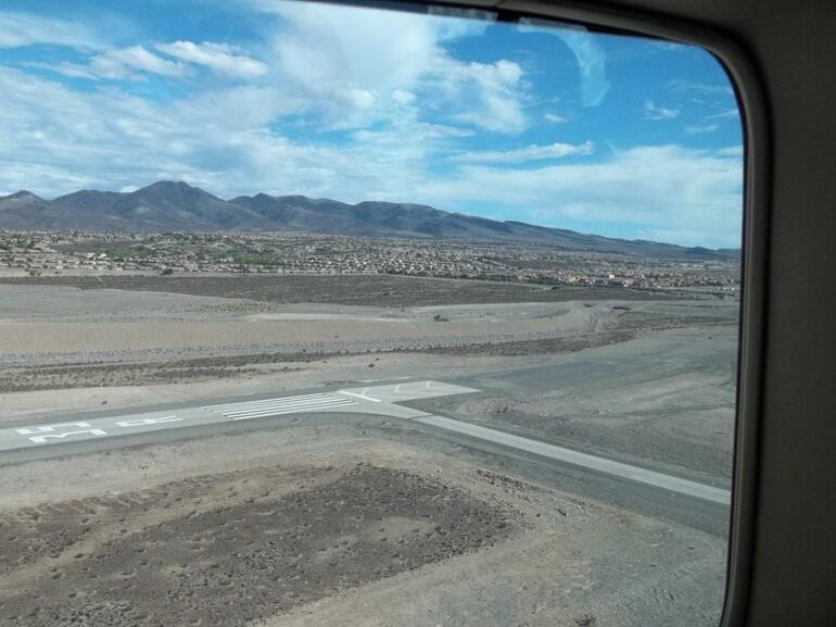 The view from the plane - Las Vegas