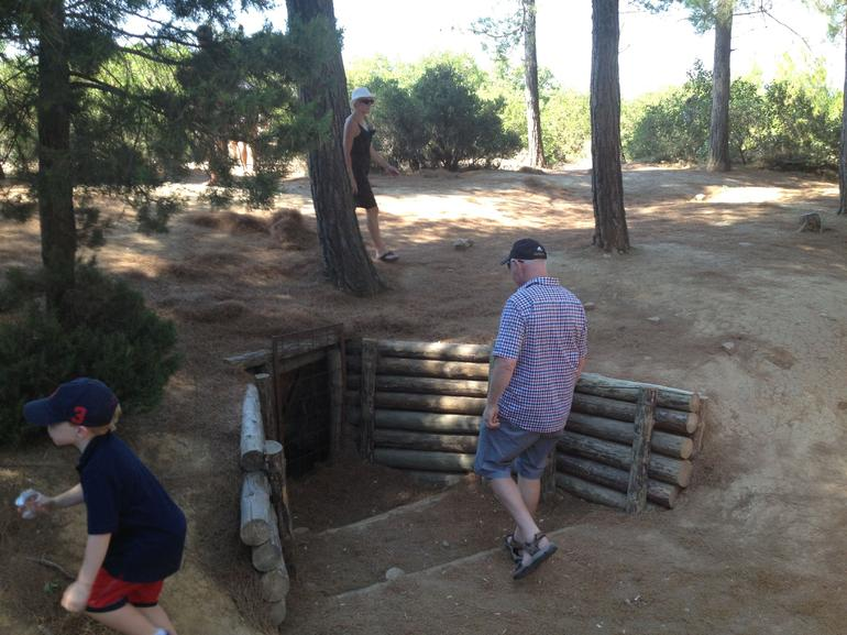 We stopped at two different locations to see the old trenches. This was one of the first sites we saw.
