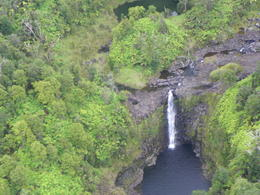 Photo of Big Island of Hawaii Fire and Falls Helicopter Adventure from Hilo view of a waterfall