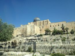 View of the outer wall of Old Jerusalem, Cat - May 2015