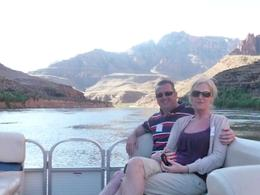 Taken from the rear of our boat while cruising down the Colorado river, Tony C - April 2009