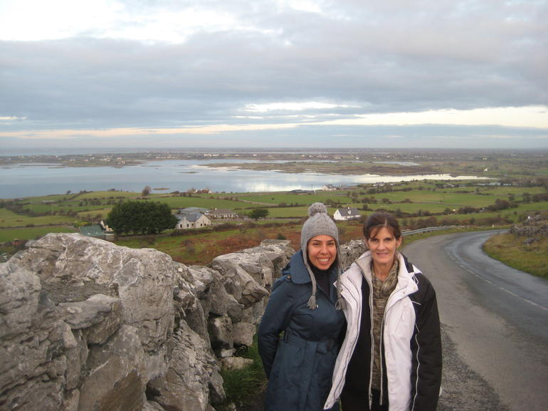 View of Galway Bay in the background