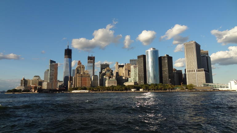 Manhattan skyline from the Shearwater - New York City