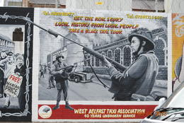 Mural on Belfast wall from Belfast Taxi driver's association. , L Douglas R - September 2013