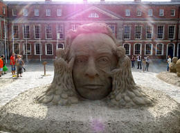 Photo of Dublin Dublin Historical Walking Tour including Trinity College Sand sculpures at Dublin Castle