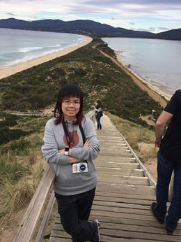 Hiked up the lookout to take a good look at The Neck after all the food , cutiesealion - April 2016