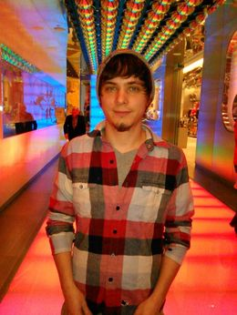 At the entrance to the Beatles Love show, Josh - November 2014