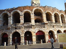 A drive-by photo of the Arena in Verona. Magnificent. , Travelplanner - October 2011