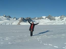 When we landed in the snow at Fox Glacier I felt like I was on top of the world!, Marimel A - May 2008