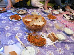 Photo of Istanbul Eat Like a Local: Istanbul Food and Culture Tour with Dinner at Local Family Home bread and meze