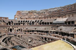 A photo of the inside the Colosseum. , crvinci - July 2014