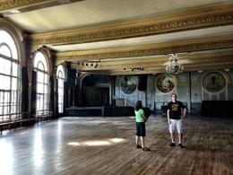 One thing that's really cool about this tour - you get to explore the Crystal Ballroom (great local music venue) during the day, and just walk around and admire the chandeliers, art work, murals, ... , Rusty - June 2013
