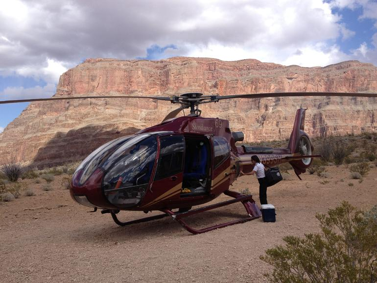 Our helicopter we flew in - Las Vegas