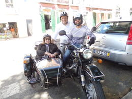 Photo of Lisbon Private Tour: Best of Lisbon by Sidecar Us two with Daniel our Guide Extraordinaire