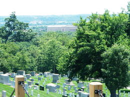 Photo of Washington DC Arlington National Cemetery and War Memorials Tour VIEW FROM ARLINGTON NATIONAL TOP OF HILL